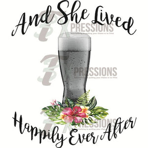 Beer Glass, She Lived Happily Ever After - 3T Xpressions