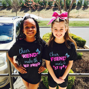 Cheer Friends Make the Best Friends T-shirt (custom glitter and metallic) - 3T Xpressions