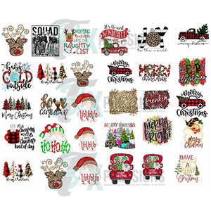 Christmas Bundle 30 Sublimation Transfers