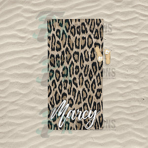 Personalized Cheetah Print Beach Towel