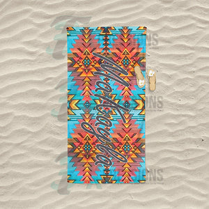 Personalized Aztec Beach Towel