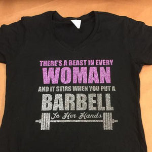 There's a Beast in every woman Womens V neck - 3T Xpressions