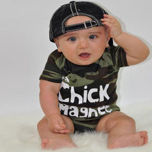 CHICK MAGNET Camo Baby Toddler Teen Youth Little Boys Kids Custom T-Shirt - 3T Xpressions