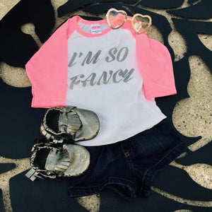 I'm so Fancy Girls Raglan Neon - 3T Xpressions