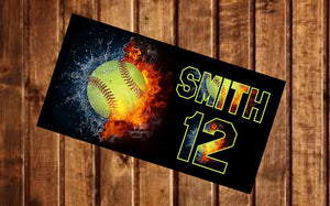 Personalized Softball Beach Towel - 3T Xpressions