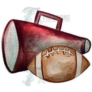 Personalized Maroon megaphone and football