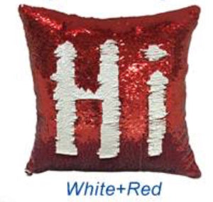 Red & White Sequin Pillows