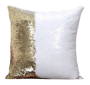 Gold & White Sequin Pillows - 3T Xpressions