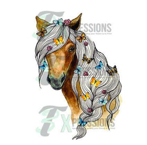 Personalized Horse Head With Braid - 3T Xpressions