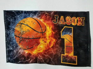 Personalized Basketball Beach Towel