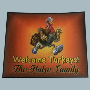 Thanksgiving door mat, turkey - 3T Xpressions