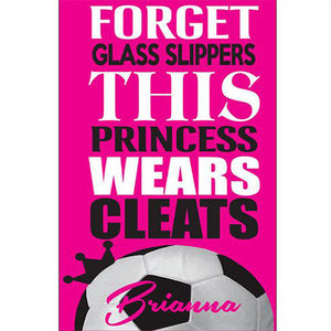 This Princess wears cleats soccer Beach Towel - 3T Xpressions