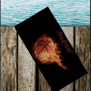 Personalized Basketball Beach Towel - 3T Xpressions