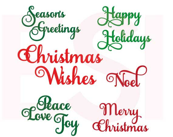 Christmas SVG Cutting Files Christmas Sentiments