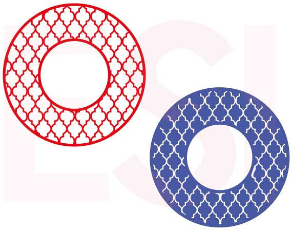 SVG Cutting Files Circle Frames Moroccan Pattern