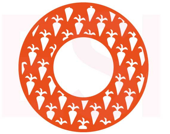 SVG Cutting Files Easter Monogram Circle Frame Carrot Pattern