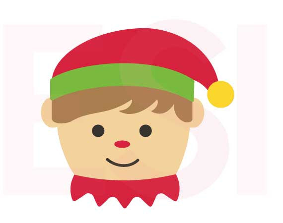 SVG Cutting Files Christmas Elf Boy Square Head