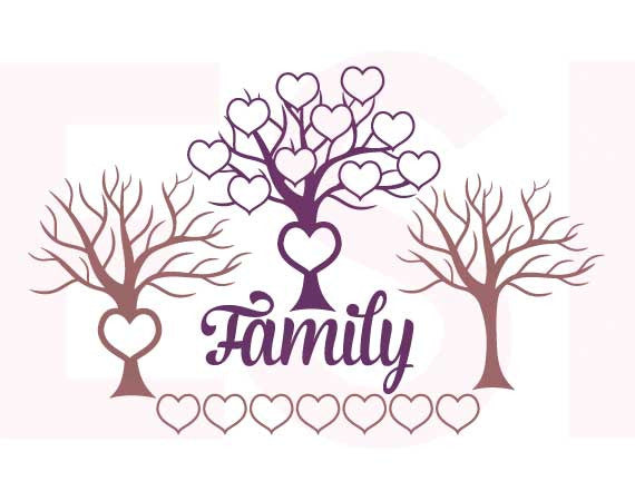 Family Tree SVG Cutting File