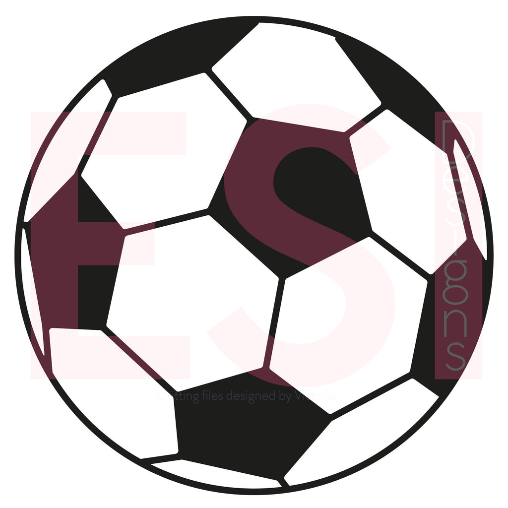 Soccer Ball SVG Cutting File