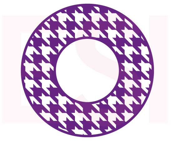 SVG Cutting Files Circle Frames Houndstooth Pattern