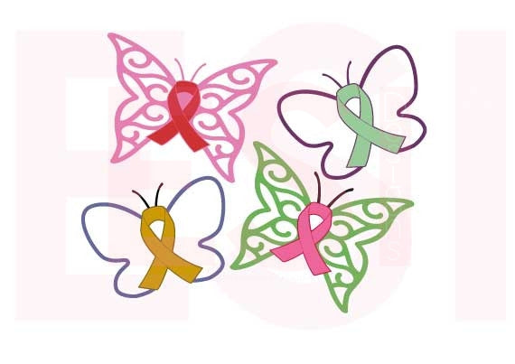Butterfly Awareness Ribbons SVG Files