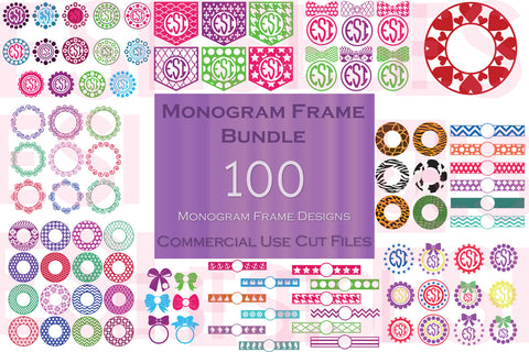 Monogram Frames SVG Cutting Files Designs Bundle
