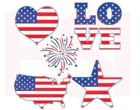 Buy July 4th SVG Cutting Files