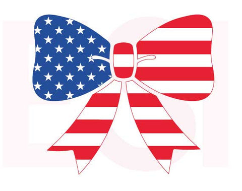 SVG Cutting Files for the 4th July US Flag Bow