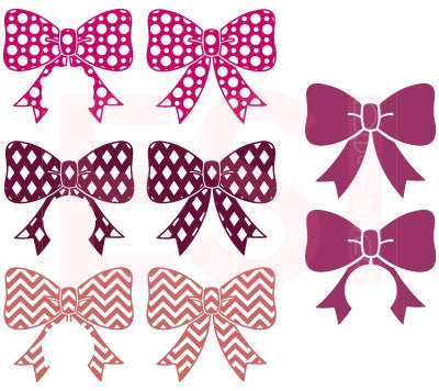 Monogram and Patterned Bows Design Bundle