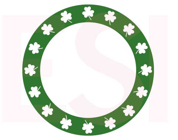 SVG Cutting Files Circle Frames Shamrock Frame 4