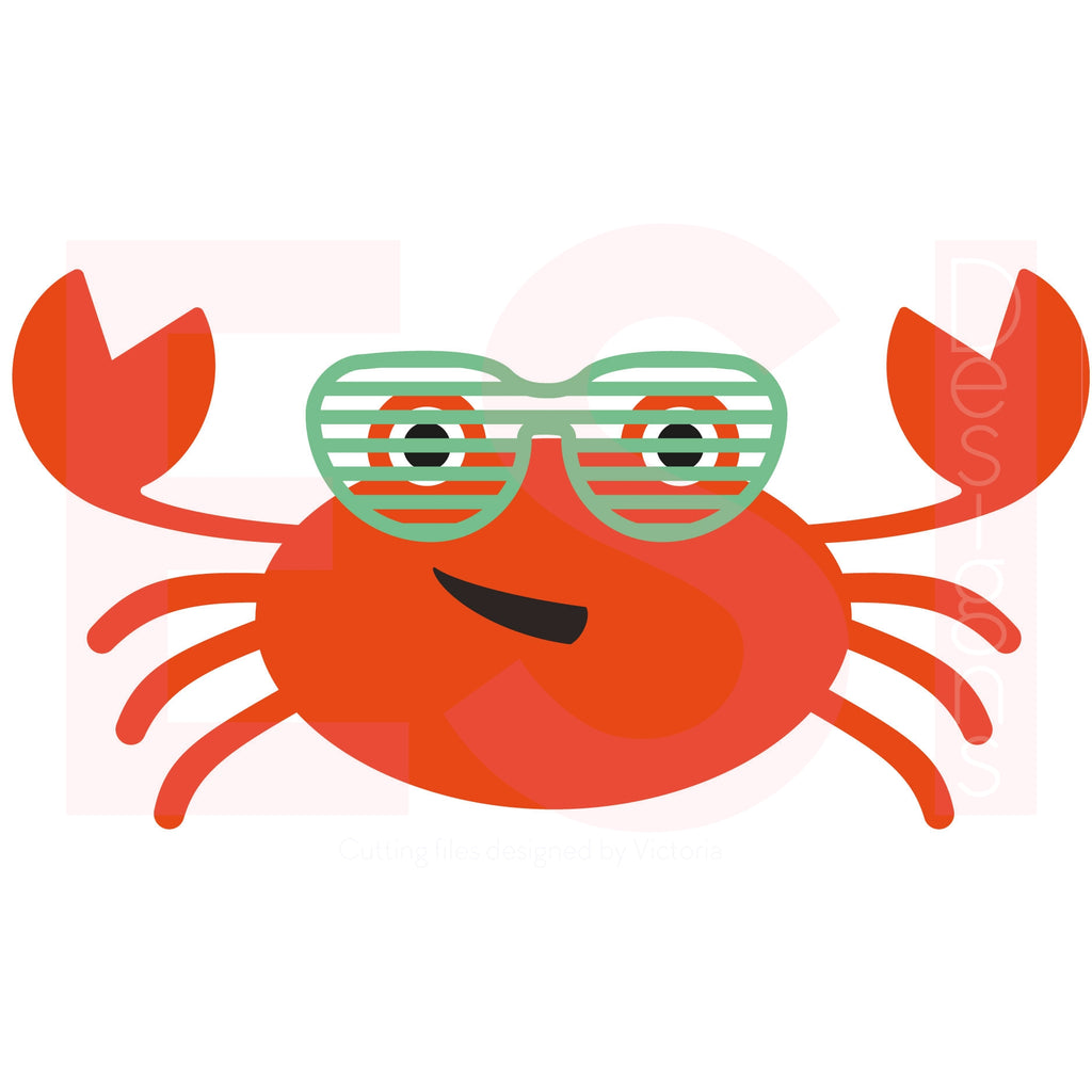 Summer Crab SVG Cutting File