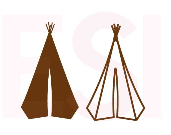 SVG Cutting Files Camping Teepee Designs
