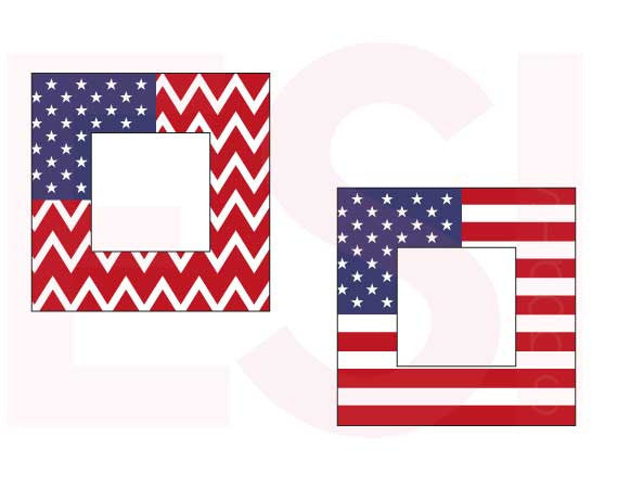 SVG Cutting Files US Flag Squares