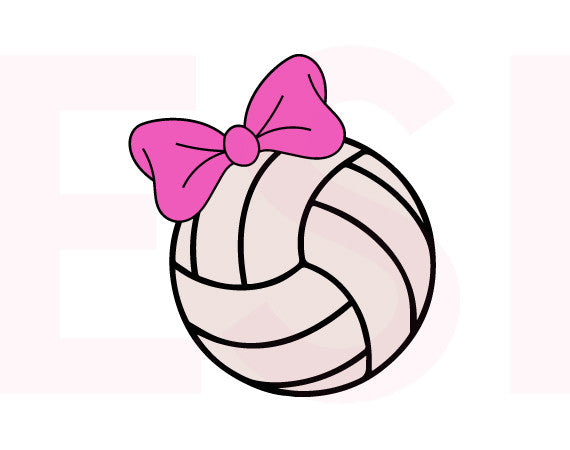 Volleyball with Bow Design