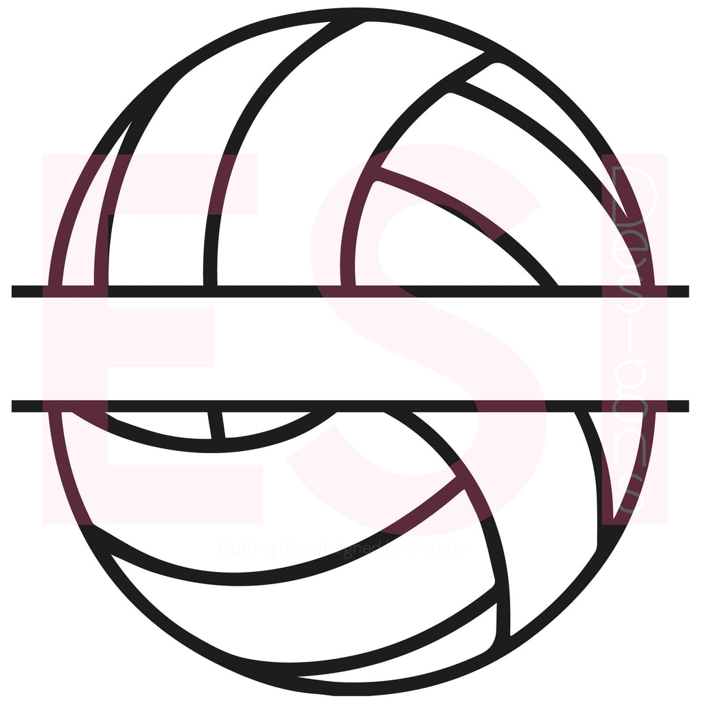 Volleyball Monogram SVG Cutting File