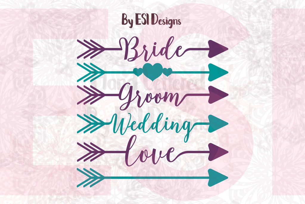 Cutting Files for Weddings in SVG Format