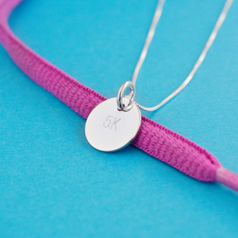 5K Marathon Runner Necklace