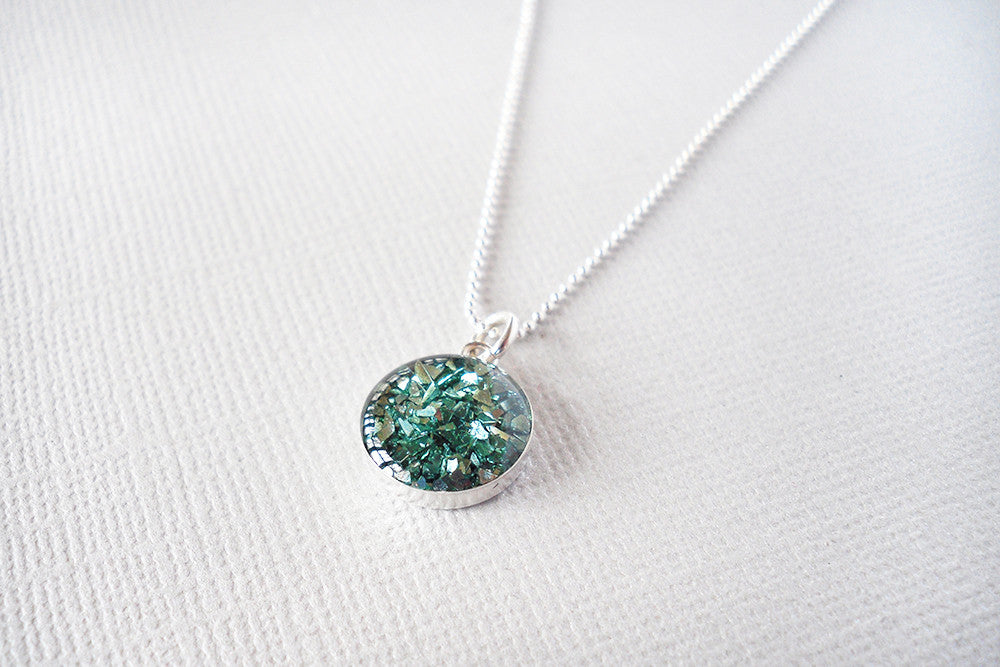 Teal Mosaic Necklace