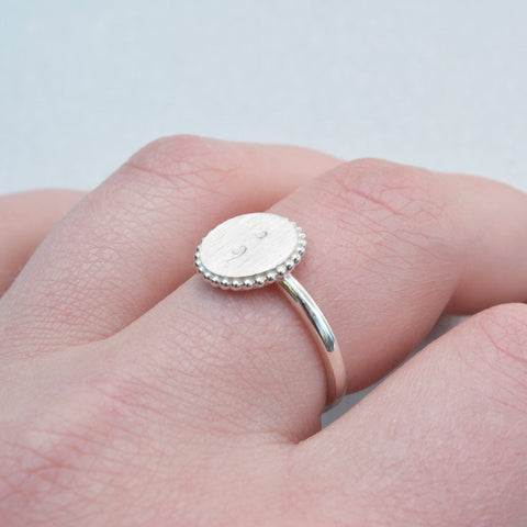 Semicolon Stamped Ring