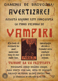 You don't have to be able to read Old Romanian to know that someone's got a Vampire problem. This is a large format handbill with nail holes in the four corners.