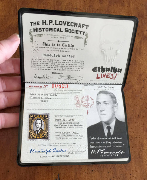 H.P. Lovecraft Historical Society Membership
