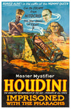 A glossy poster for a fictional performance by the great Houdini.