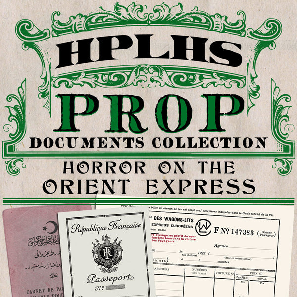 Horror on the Orient Express Props
