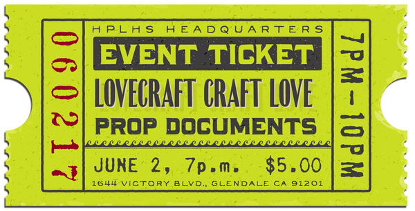 Lovecraft Craft Love event #1