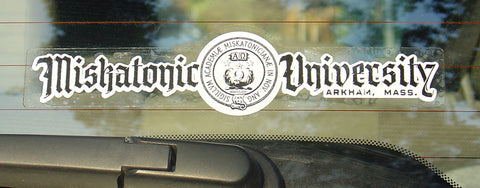 Miskatonic University Car Window Decal