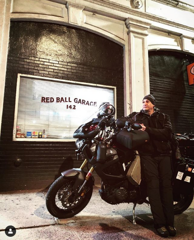 Adam Frasca at Red Ball Garage ready to begin the Cannonball Run, complete with Hippo Hands.