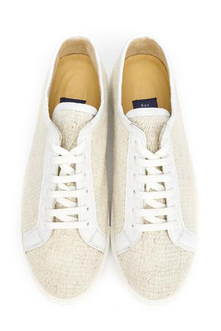 Res Ipsa All-White Kilim Lace-Up Sneakers