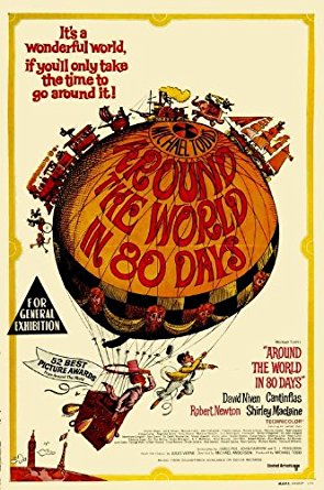 Around the World in 80 Days Vintage Poster