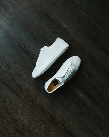 Res Ipsa White Lace-Up Sneakers