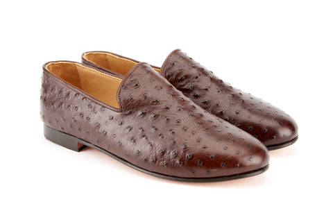 Men's Ostrich Leather Loafers